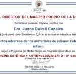 La Dra. Deltell docente en la 8ª Edición del Máster de Medicina Estética y Antienvejecimiento de la UCM